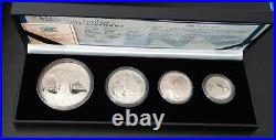 South Africa Silver Proof 4 Dif Coins Set 5 50 Cents 2002 Year Elephant Ps200