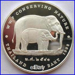 Thailand 1998 Elephant 200 Baht Silver Coin, Proof