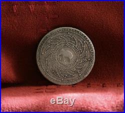 Thailand 1 Baht 1860 ND Silver Elephant Nice World Coin Rare Rama IV Thai