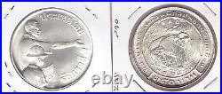 Thailand Silver 150 Baht Unc Coin 1977 Year Y#113 Fao Elephant