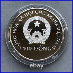 VIETNAM Silver coin 100 Dong 1993 Elephant Proof