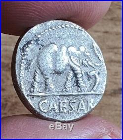 Verry Rare Roman Silver Coin, Denarius Julius Caesar / Elephant -3.70 g