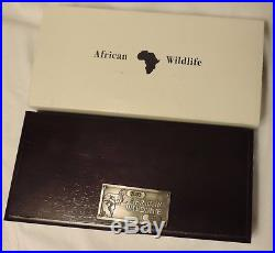 Zambia 2003 four coin set Elephant Silver Proof Ag 999 African Wildlife Somalia