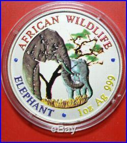 Zambia 5000 Kwacha 2001 Africana Wildlife Elephant #F3304 de Color Súper Rare
