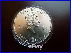 Zambia / Sambia 5.000 Kwacha 2003 1 oz 999 Silber Color Farb Elefant / Elephant